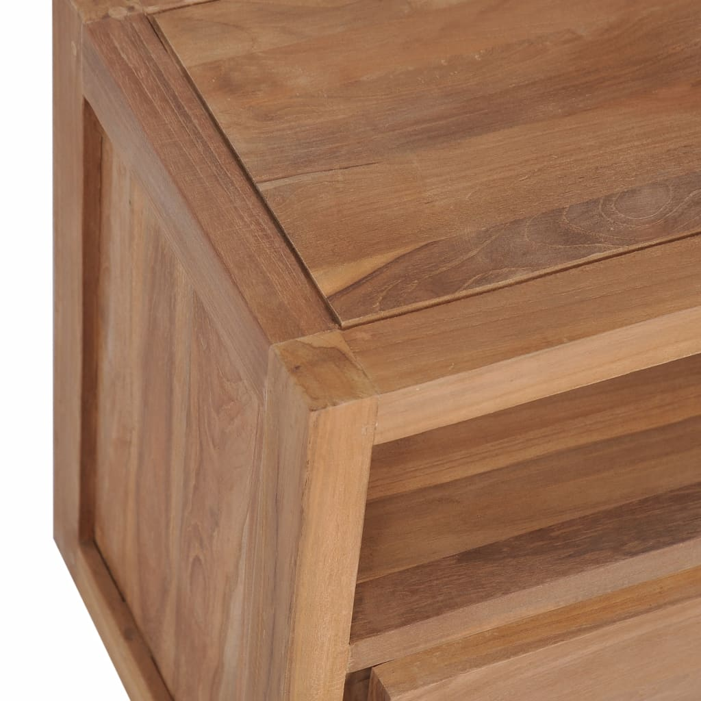 TV Cabinet Solid Teak Wood with Natural Finish 120x30x40 cm 4