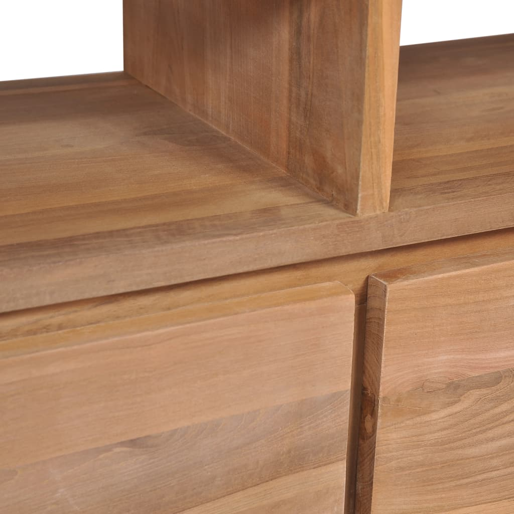 TV Cabinet Solid Teak Wood with Natural Finish 120x30x40 cm 6