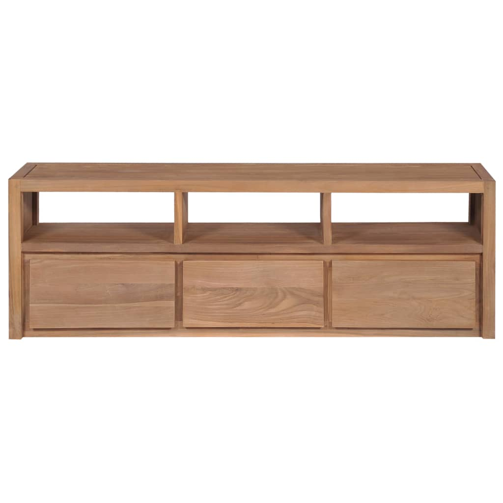 TV Cabinet Solid Teak Wood with Natural Finish 120x30x40 cm 7