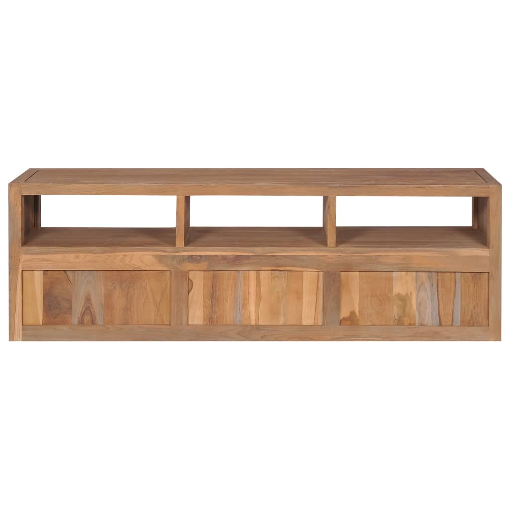 TV Cabinet Solid Teak Wood with Natural Finish 120x30x40 cm 8