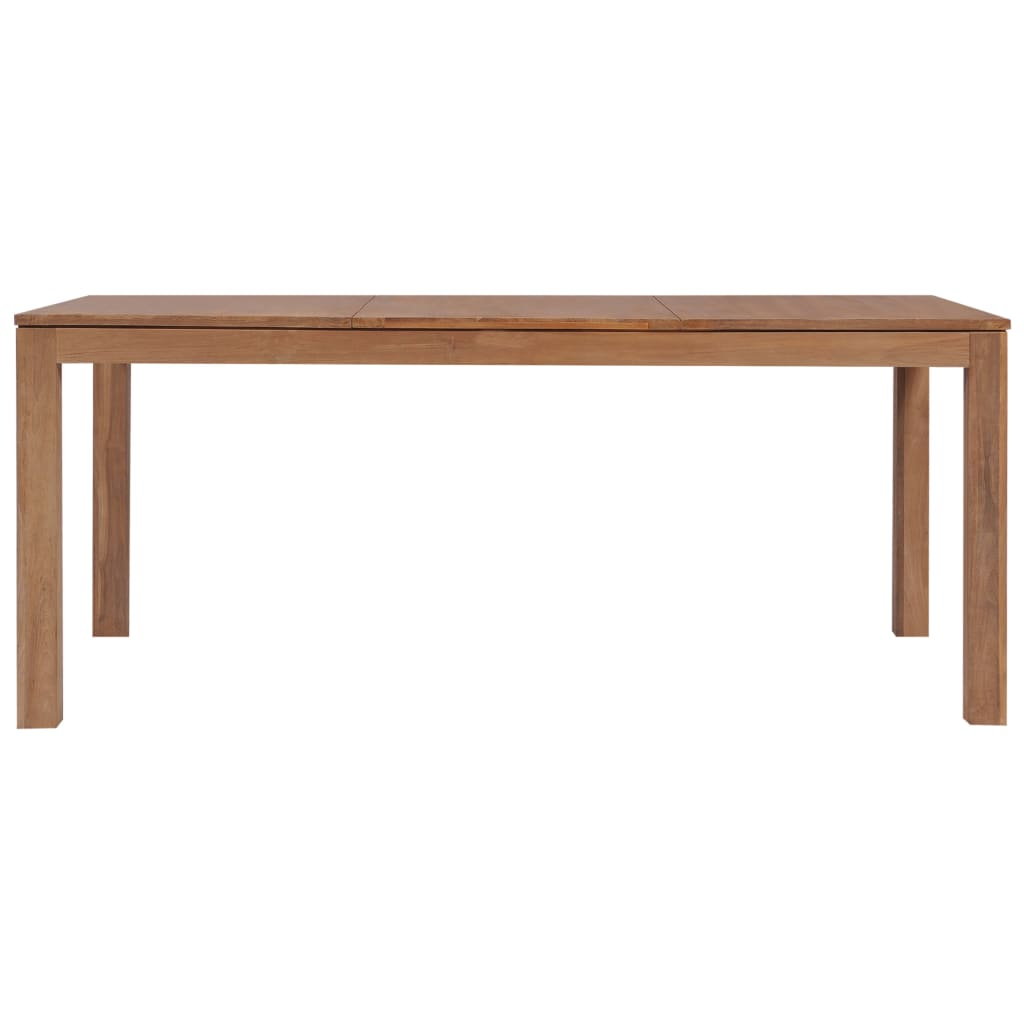 Dining Table Solid Teak Wood with Natural Finish 180x90x76 cm 3