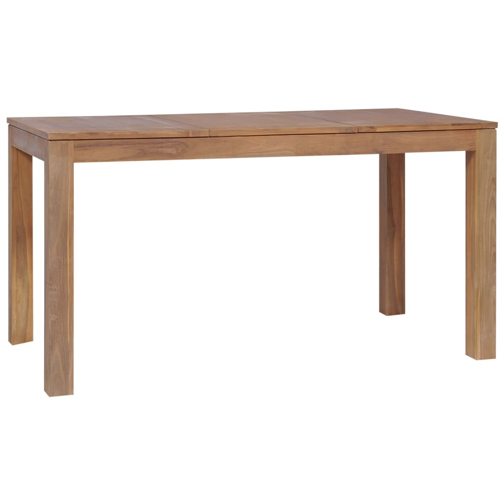 Dining Table Solid Teak Wood with Natural Finish 140x70x76 cm 3