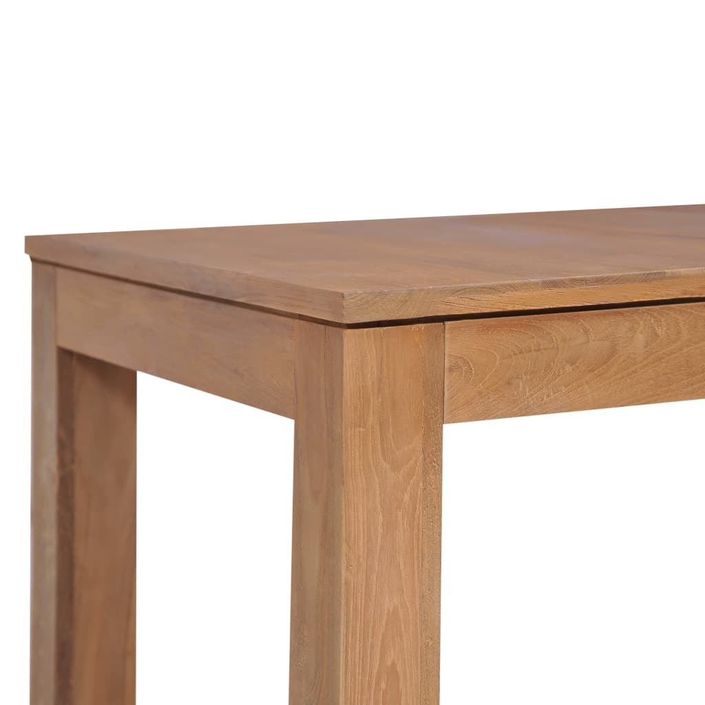 Dining Table Solid Teak Wood with Natural Finish 140x70x76 cm 6