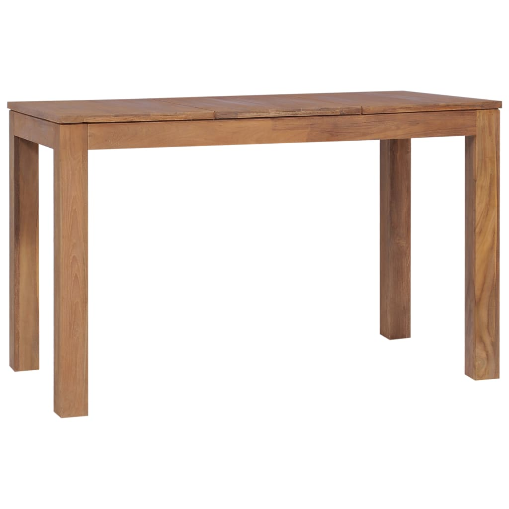 Dining Table Solid Teak Wood with Natural Finish 120x60x76 cm 3