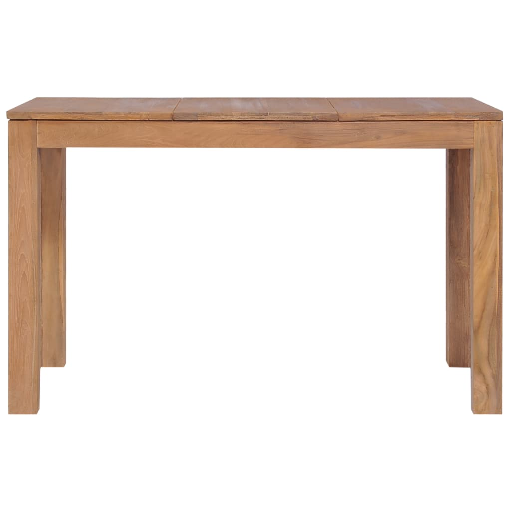 Dining Table Solid Teak Wood with Natural Finish 120x60x76 cm 4