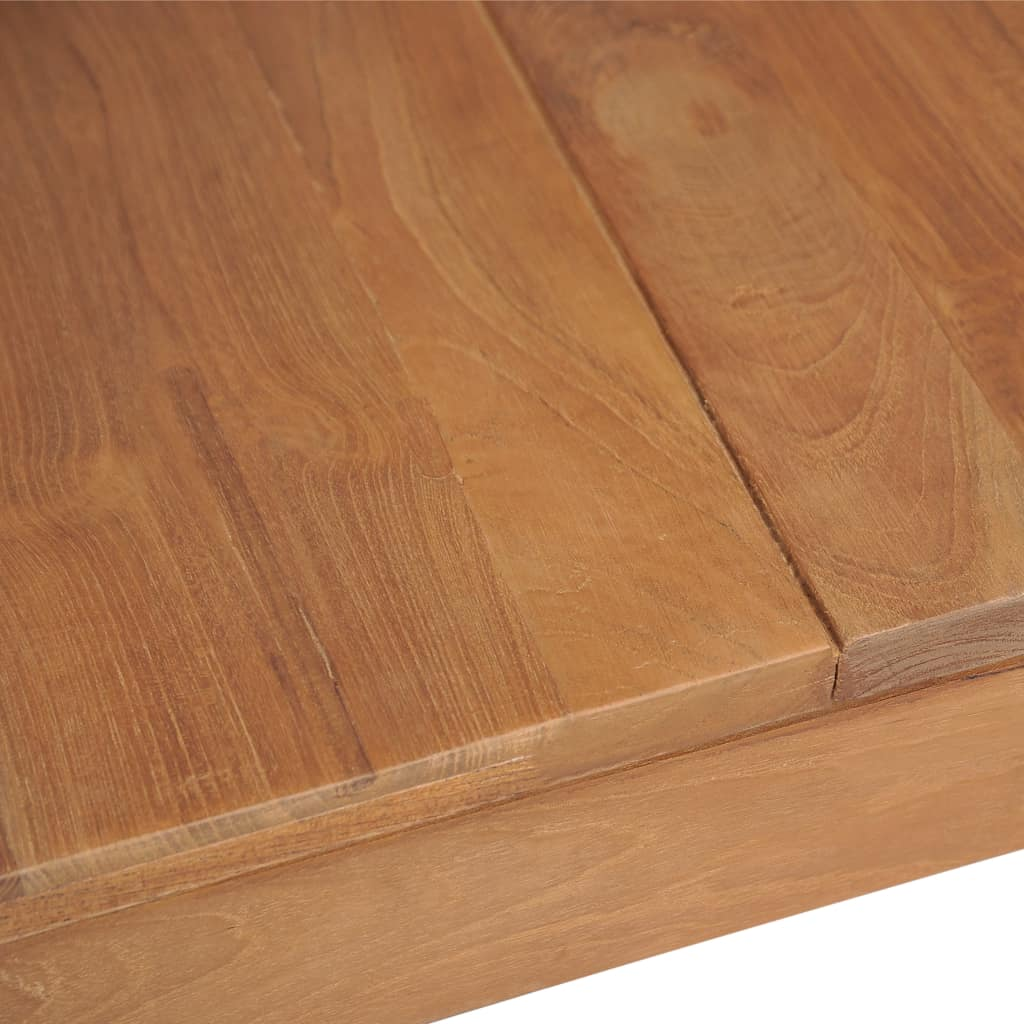 Dining Table Solid Teak Wood with Natural Finish 120x60x76 cm 7
