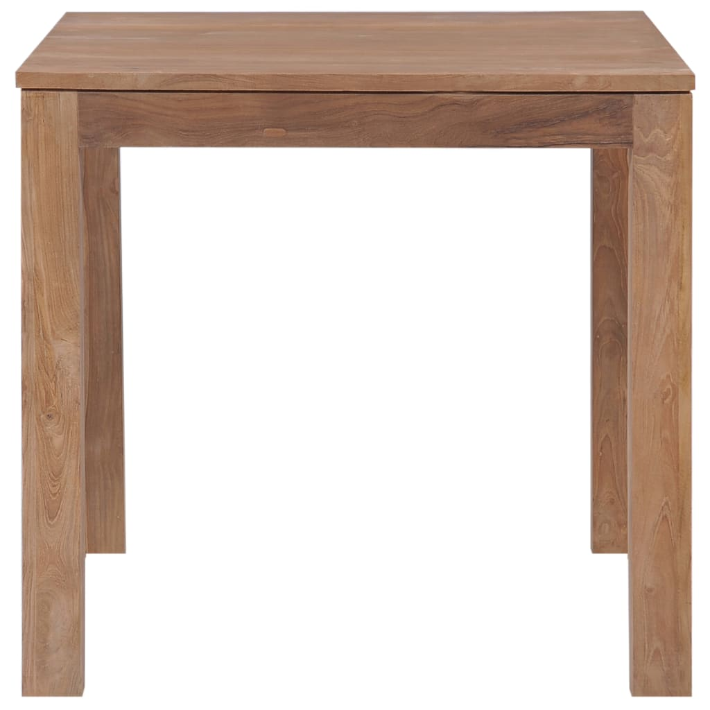 Dining Table Solid Teak Wood with Natural Finish 82x80x76 cm 3