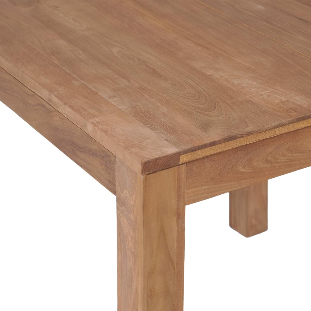 Dining Table Solid Teak Wood with Natural Finish 82x80x76 cm 4