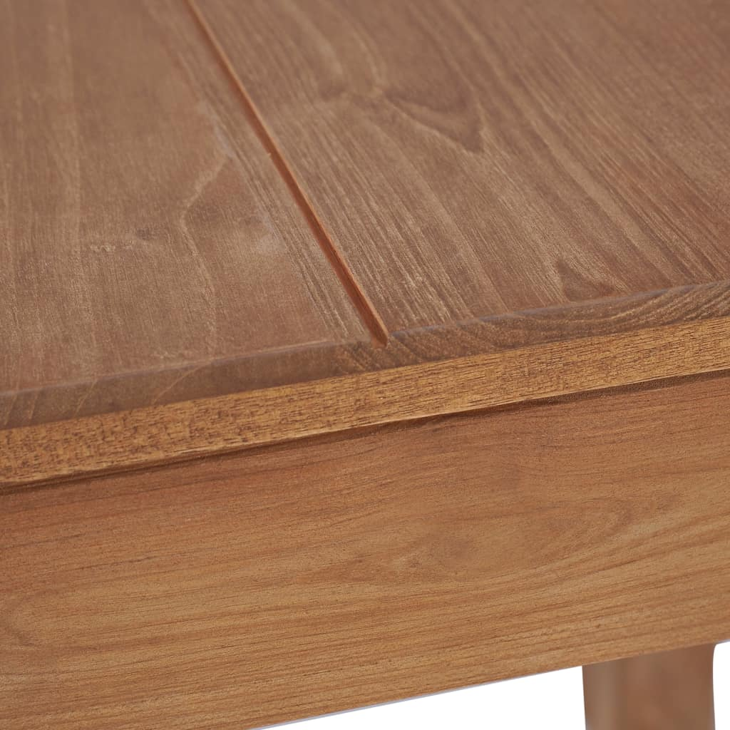 Dining Table Solid Teak Wood with Natural Finish 82x80x76 cm 5