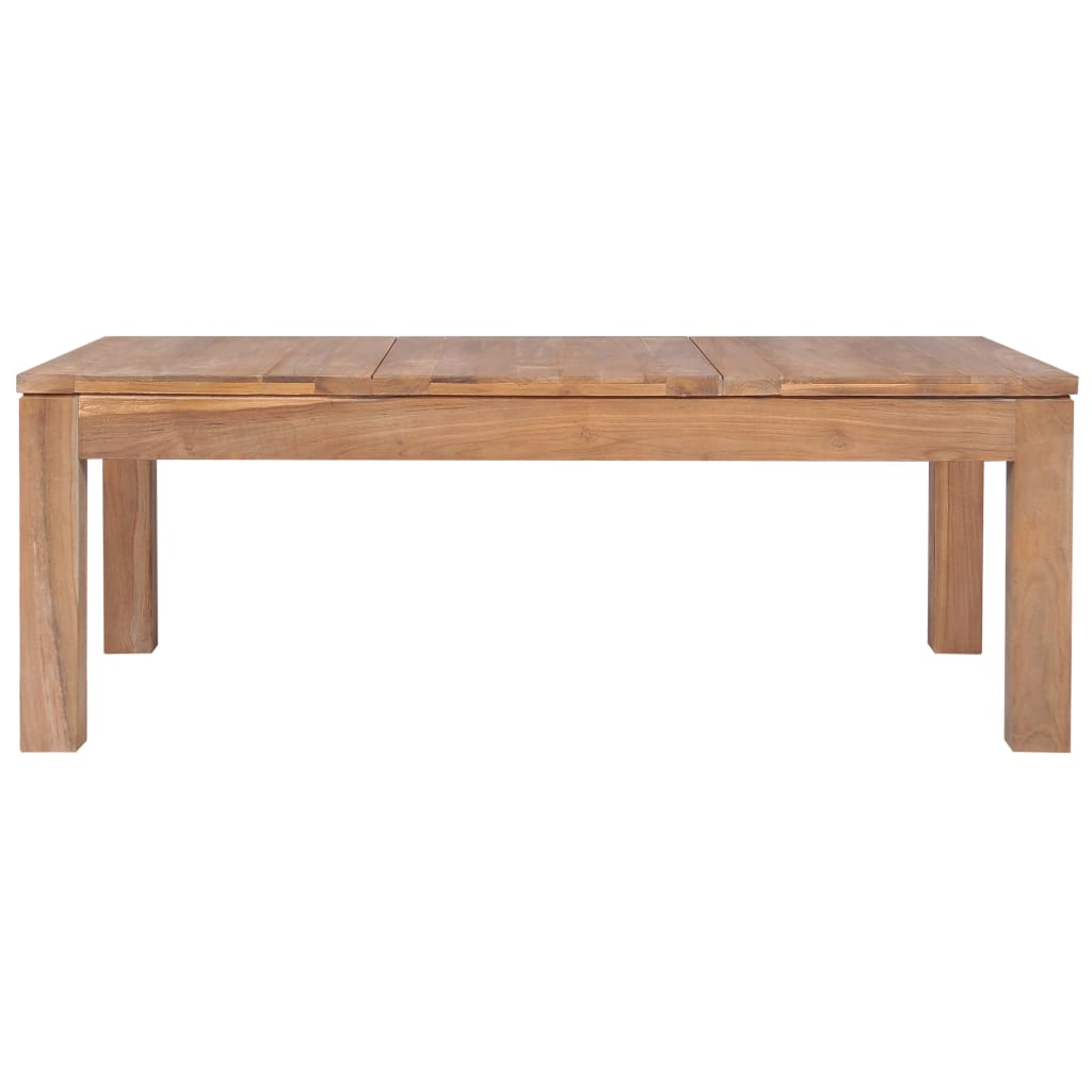 Coffee Table Solid Teak Wood with Natural Finish 110x60x40 cm 4