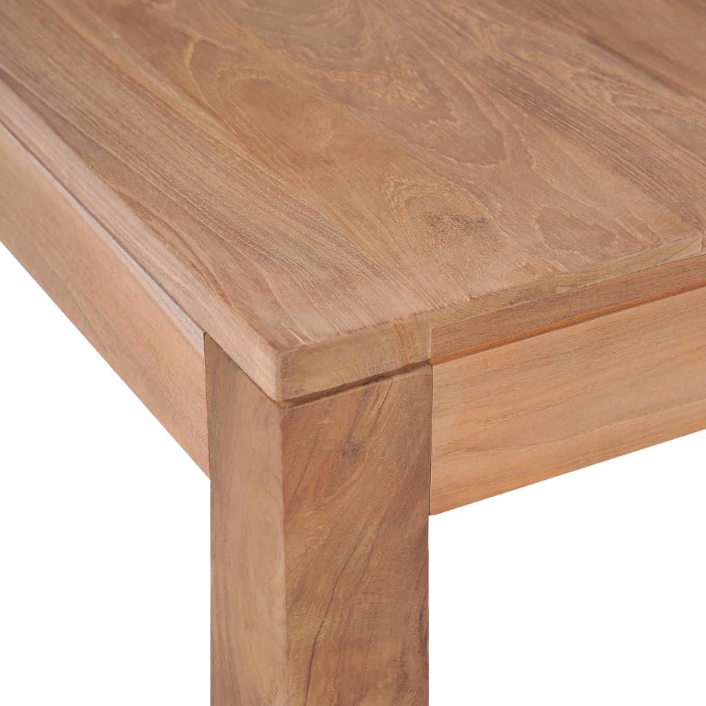 Coffee Table Solid Teak Wood with Natural Finish 110x60x40 cm 6