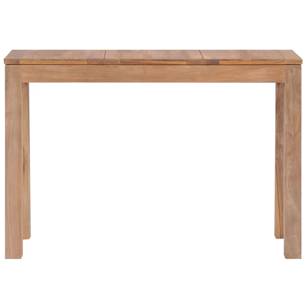 Console Table Solid Teak Wood with Natural Finish 110x35x76 cm 3