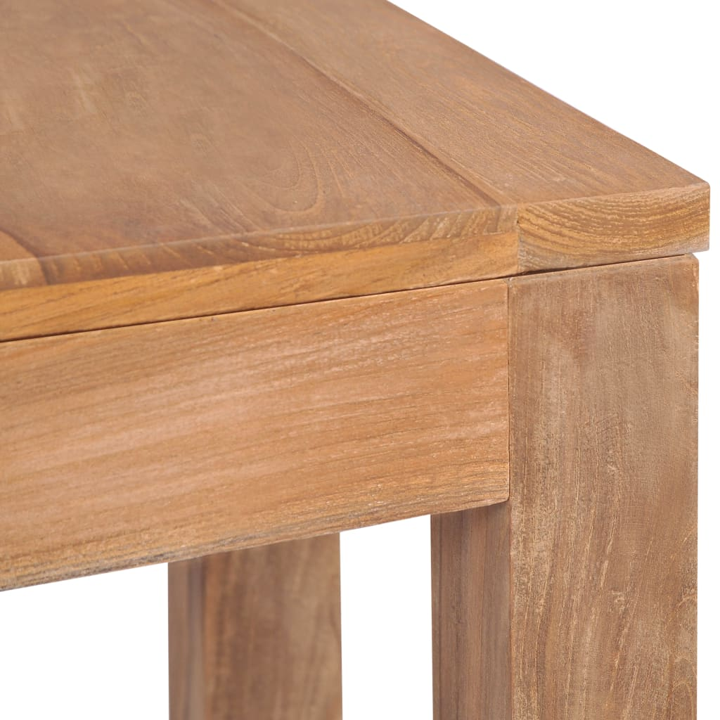 Console Table Solid Teak Wood with Natural Finish 110x35x76 cm 6
