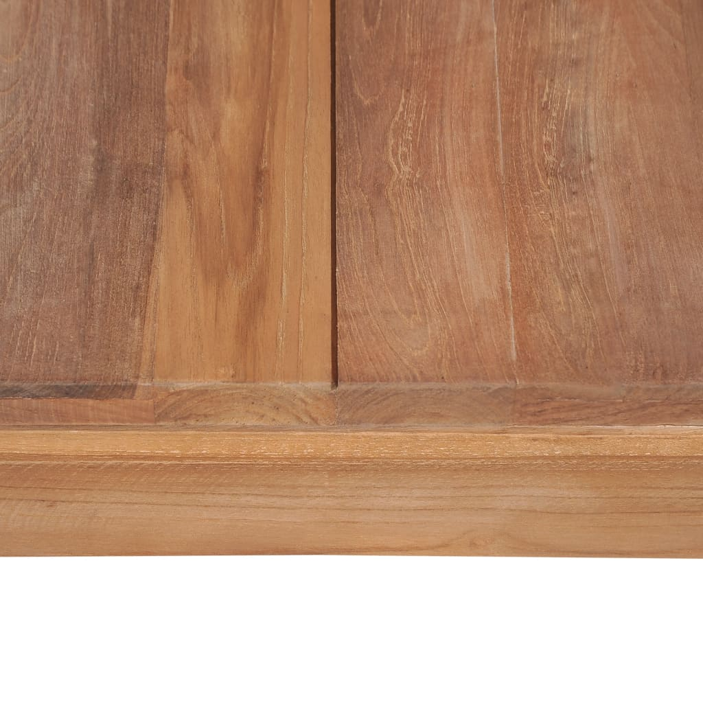 Console Table Solid Teak Wood with Natural Finish 110x35x76 cm 7