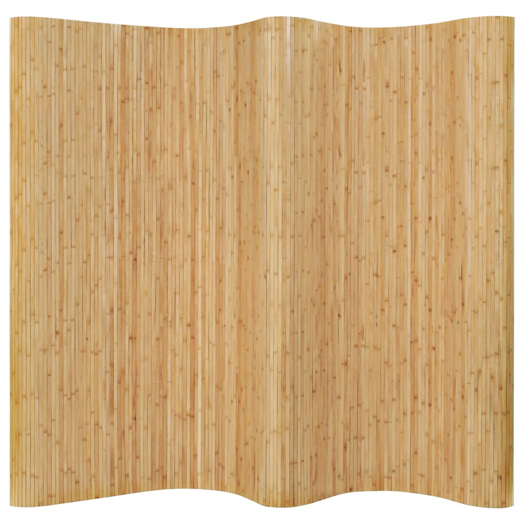 Room Divider Bamboo 250x195 cm Natural