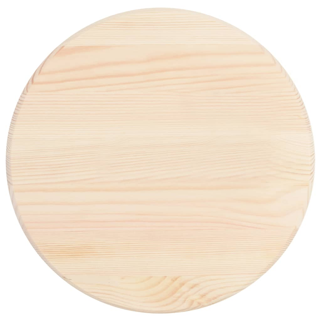 Table Top Natural Pinewood Round 25 mm 40 cm 2