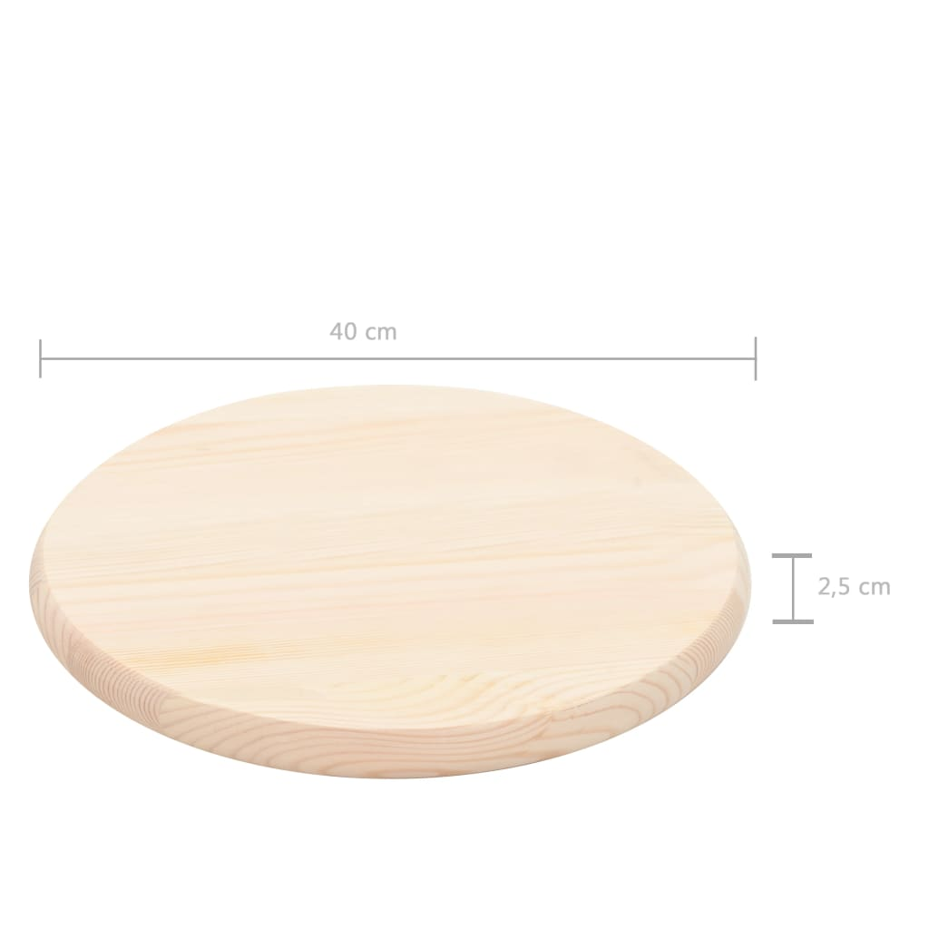 Table Top Natural Pinewood Round 25 mm 40 cm 4