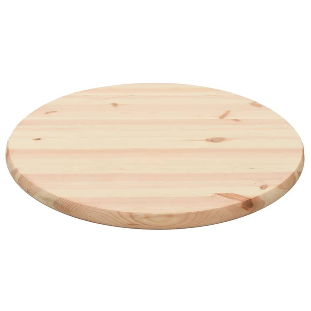 Table Top Natural Pinewood Round 25 mm 60 cm 1