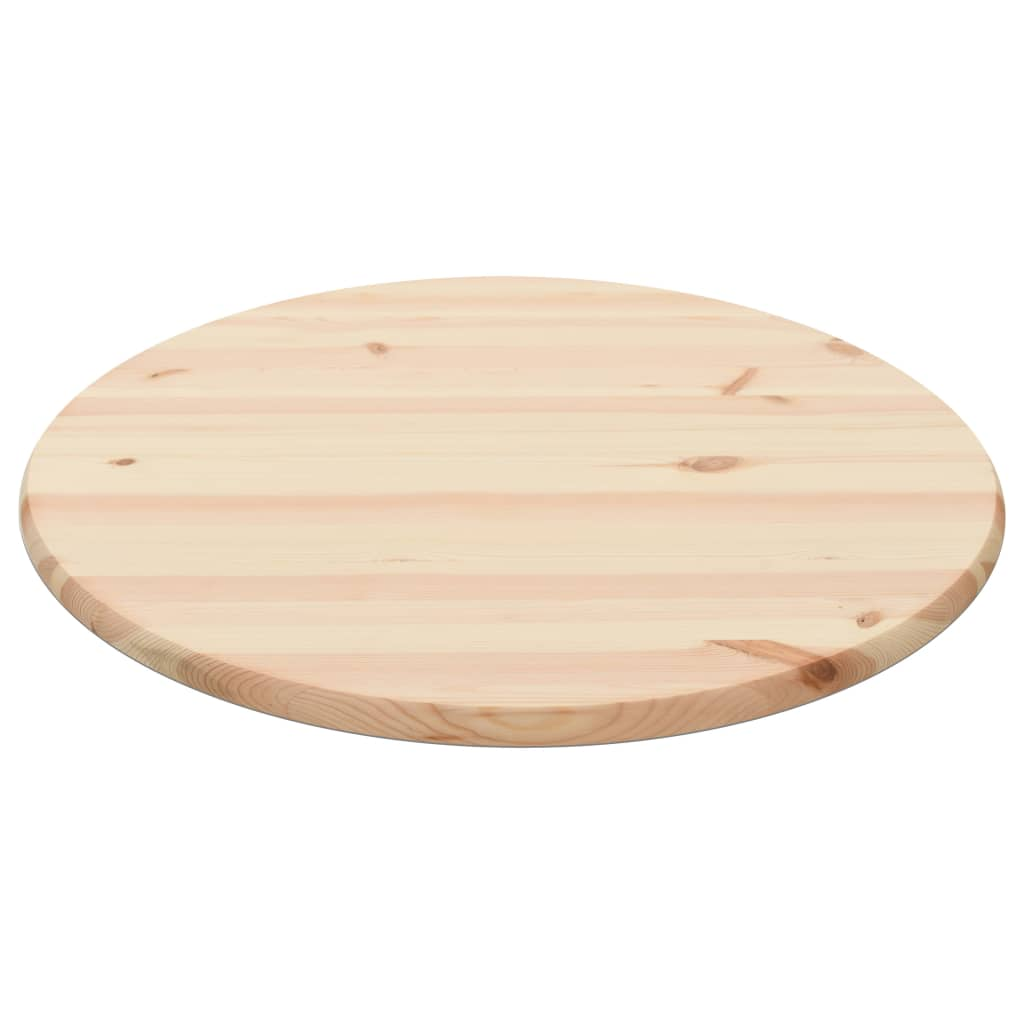 Table Top Natural Pinewood Round 25 mm 70 cm