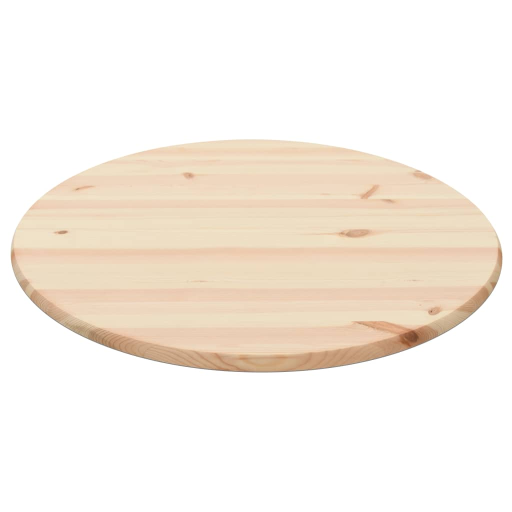 Table Top Natural Pinewood Round 25 mm 80 cm 1