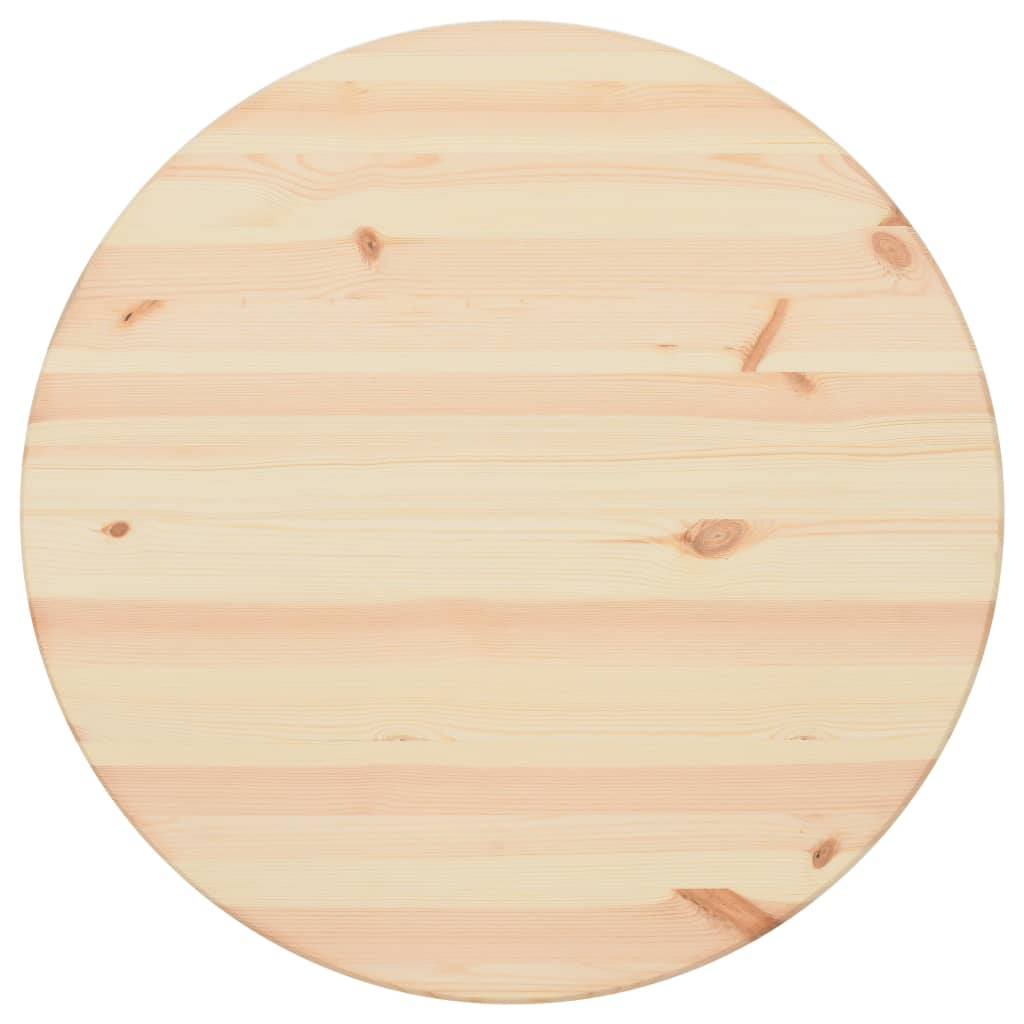Table Top Natural Pinewood Round 25 mm 80 cm 2