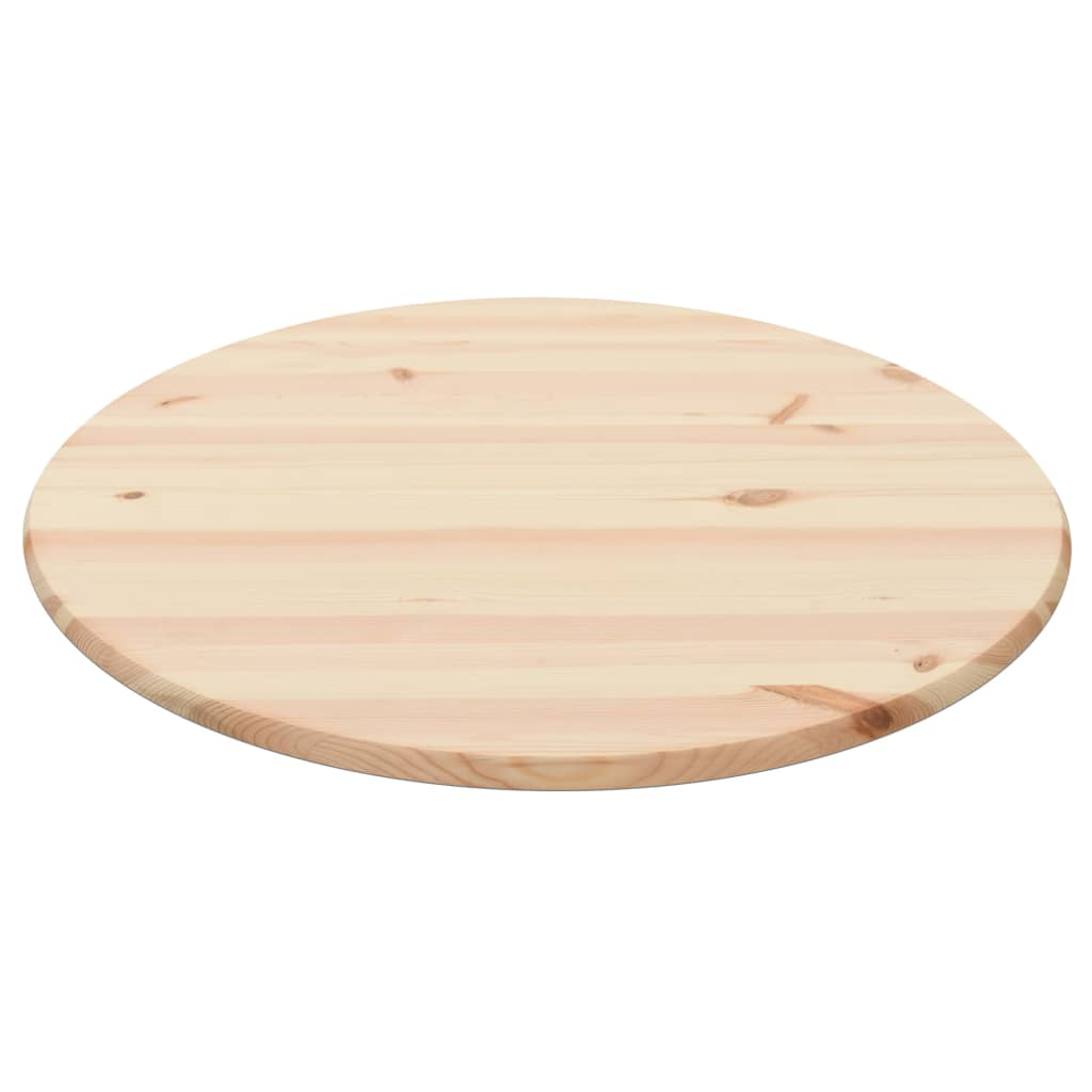 Table Top Natural Pinewood Round 25 mm 90 cm 1