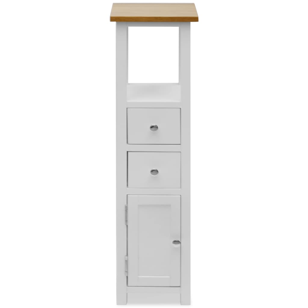 Tall Chest of Drawers 26x26x94 cm Solid Oak Wood 3