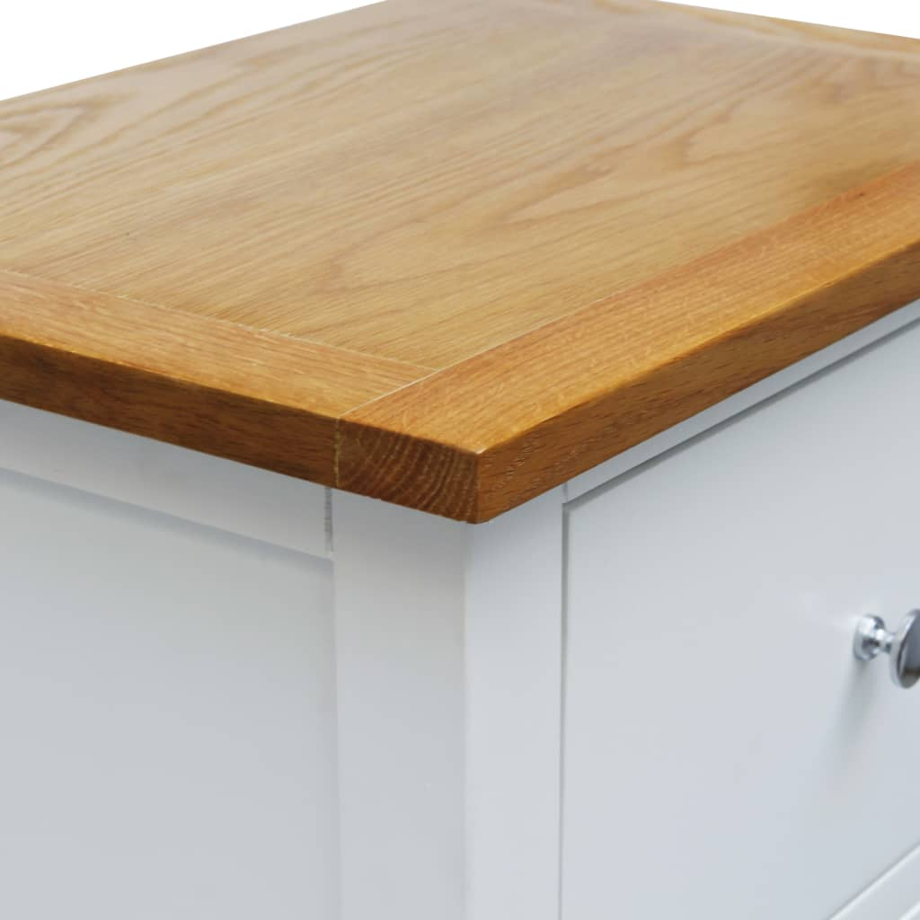 Tall Chest of Drawers 45x32x115 cm Solid Oak Wood 5
