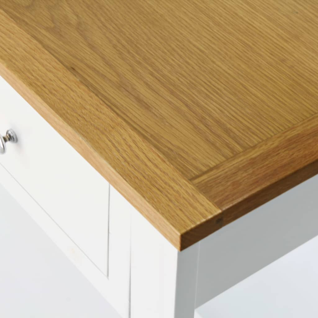 Console Table 118x35x77 cm Solid Oak Wood 5