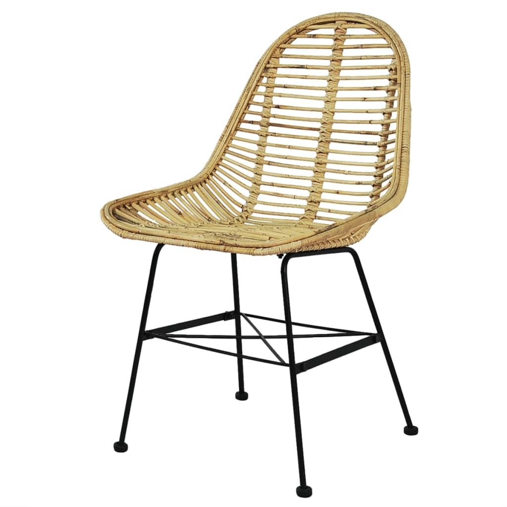 Dining Chairs 6 pcs Natural Rattan 2