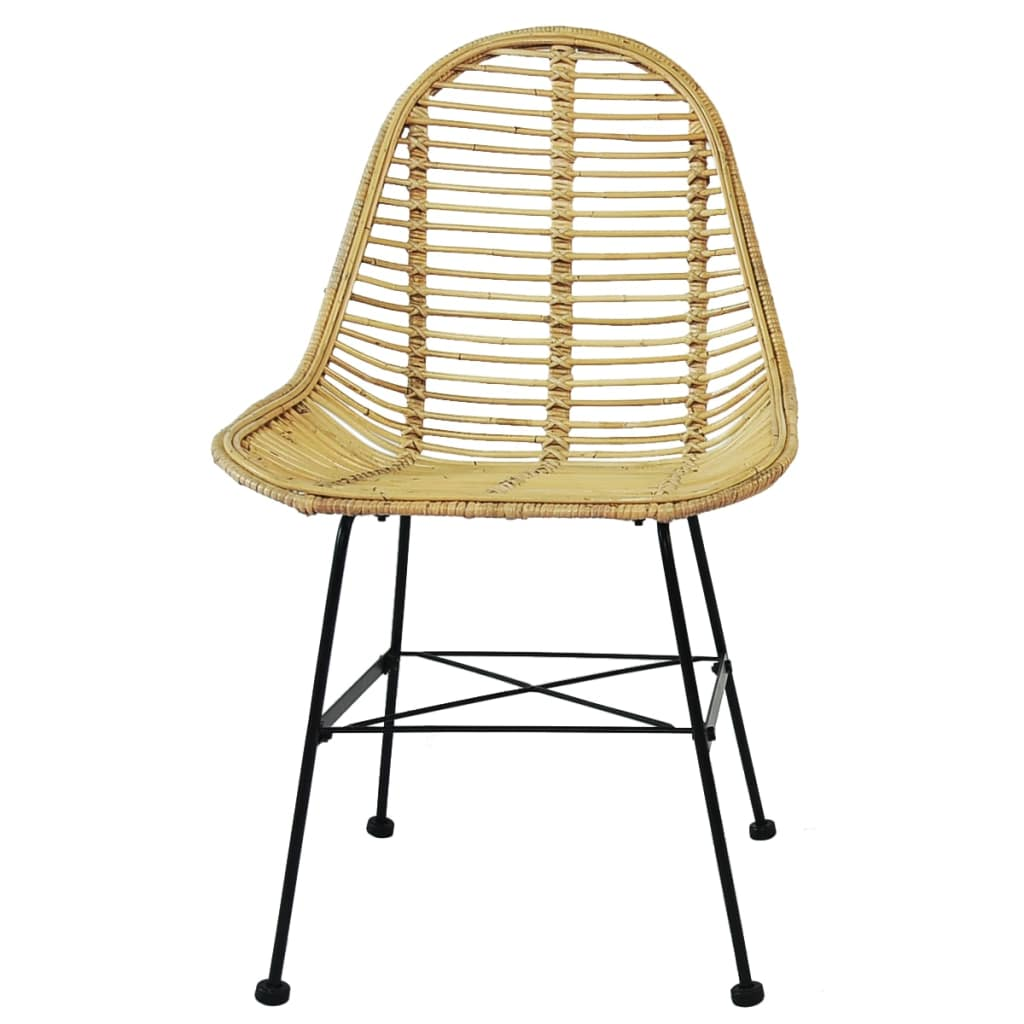 Dining Chairs 6 pcs Natural Rattan 3