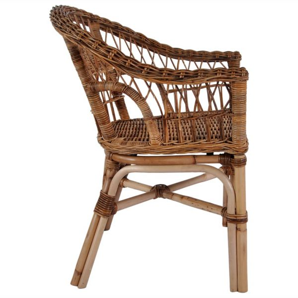Outdoor Chairs 2 pcs Natural Rattan Brown 4