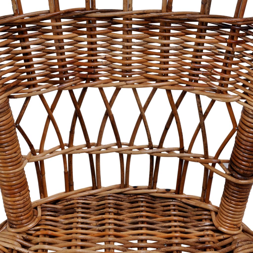 Outdoor Chairs 4 pcs Natural Rattan Brown 5