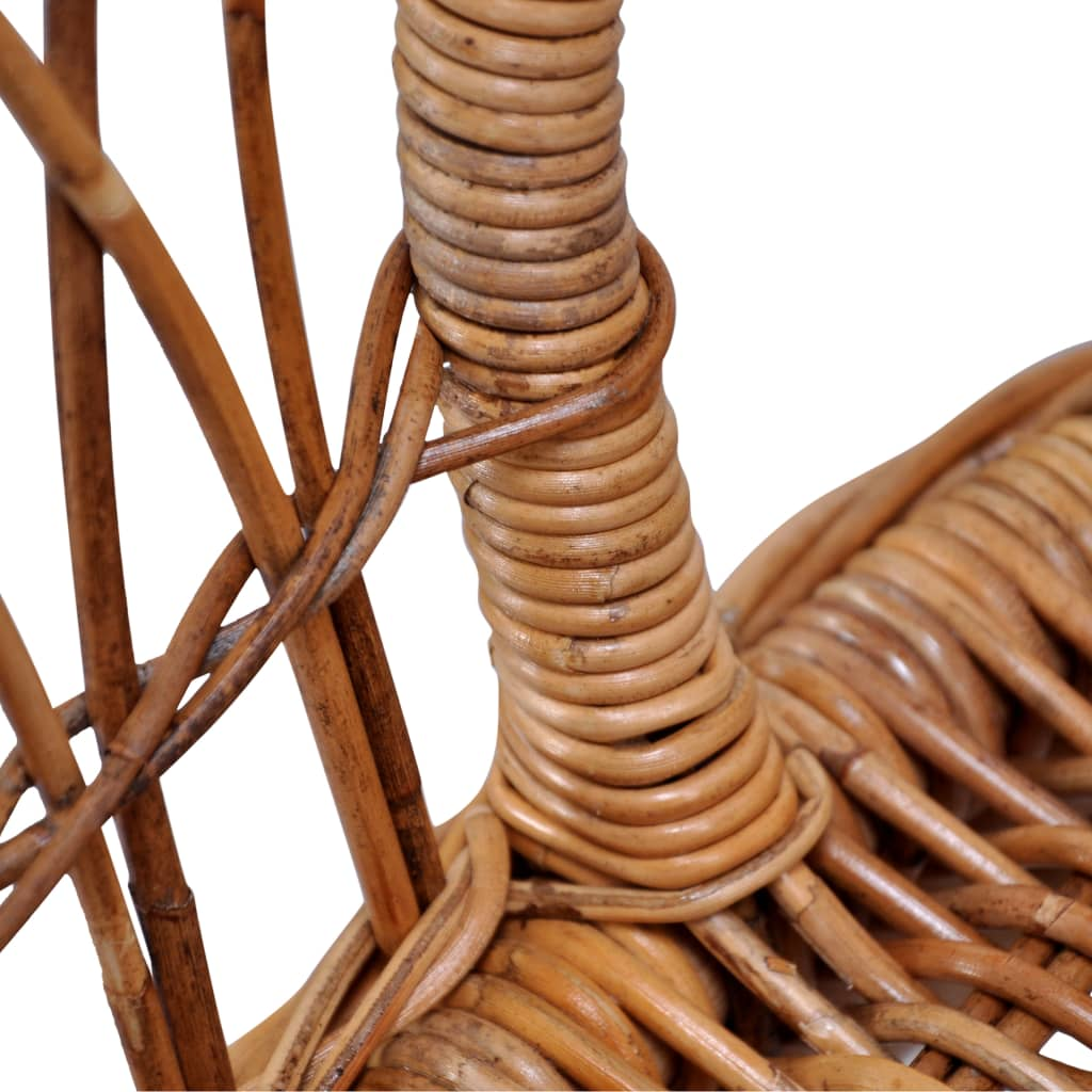 Outdoor Chairs 4 pcs Natural Rattan Brown 6