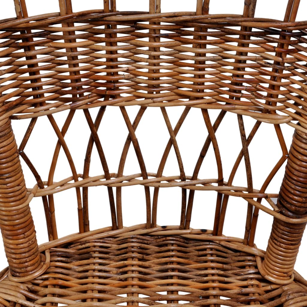 Outdoor Chairs 6 pcs Natural Rattan Brown 5