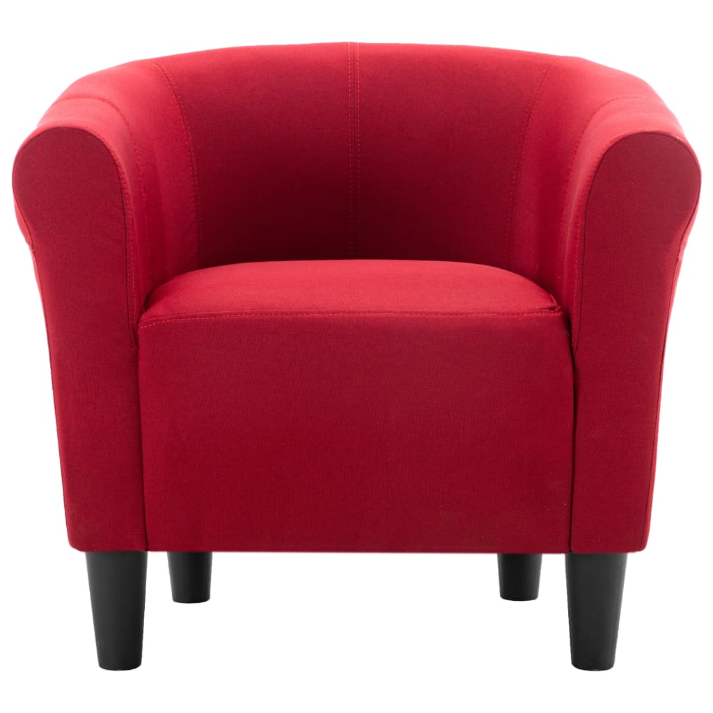 Armchair Wine Red Fabric 4