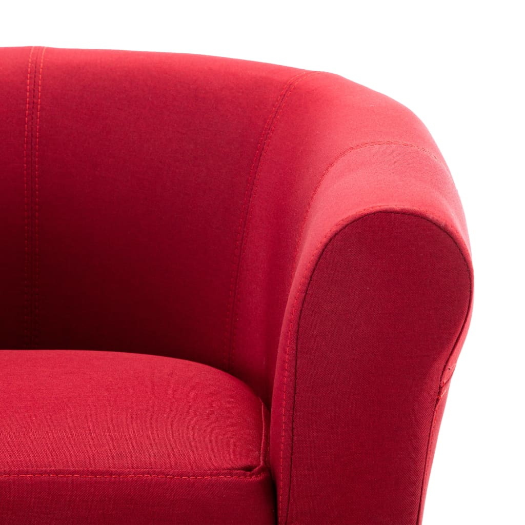 Armchair Wine Red Fabric 5