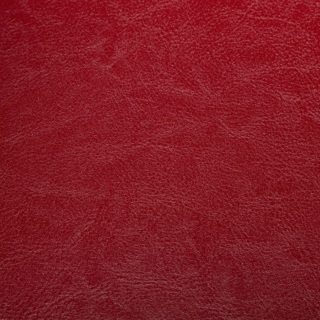 Tub Chair Red Faux Leather 3