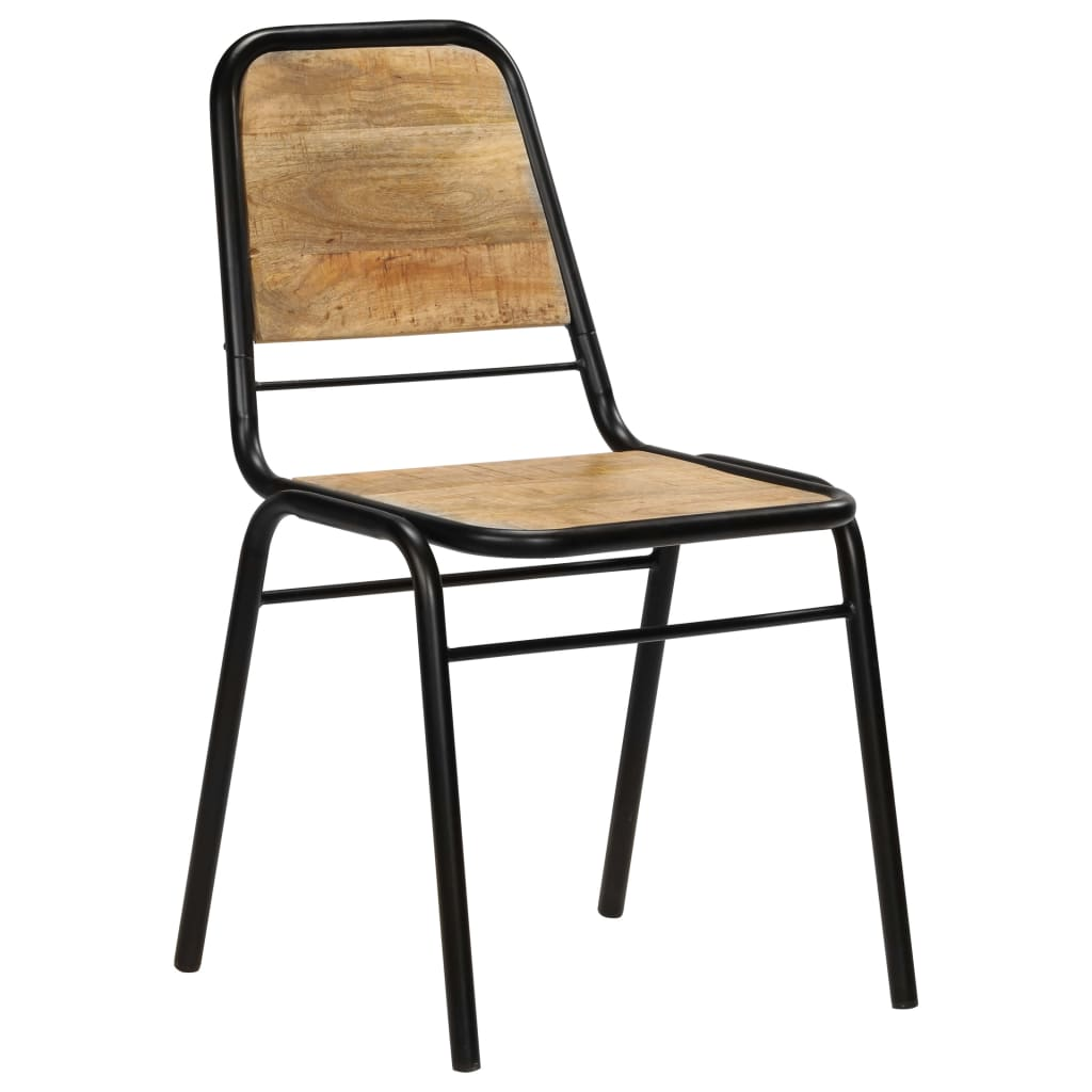 Dining Chairs 2 pcs Solid Mango Wood 11