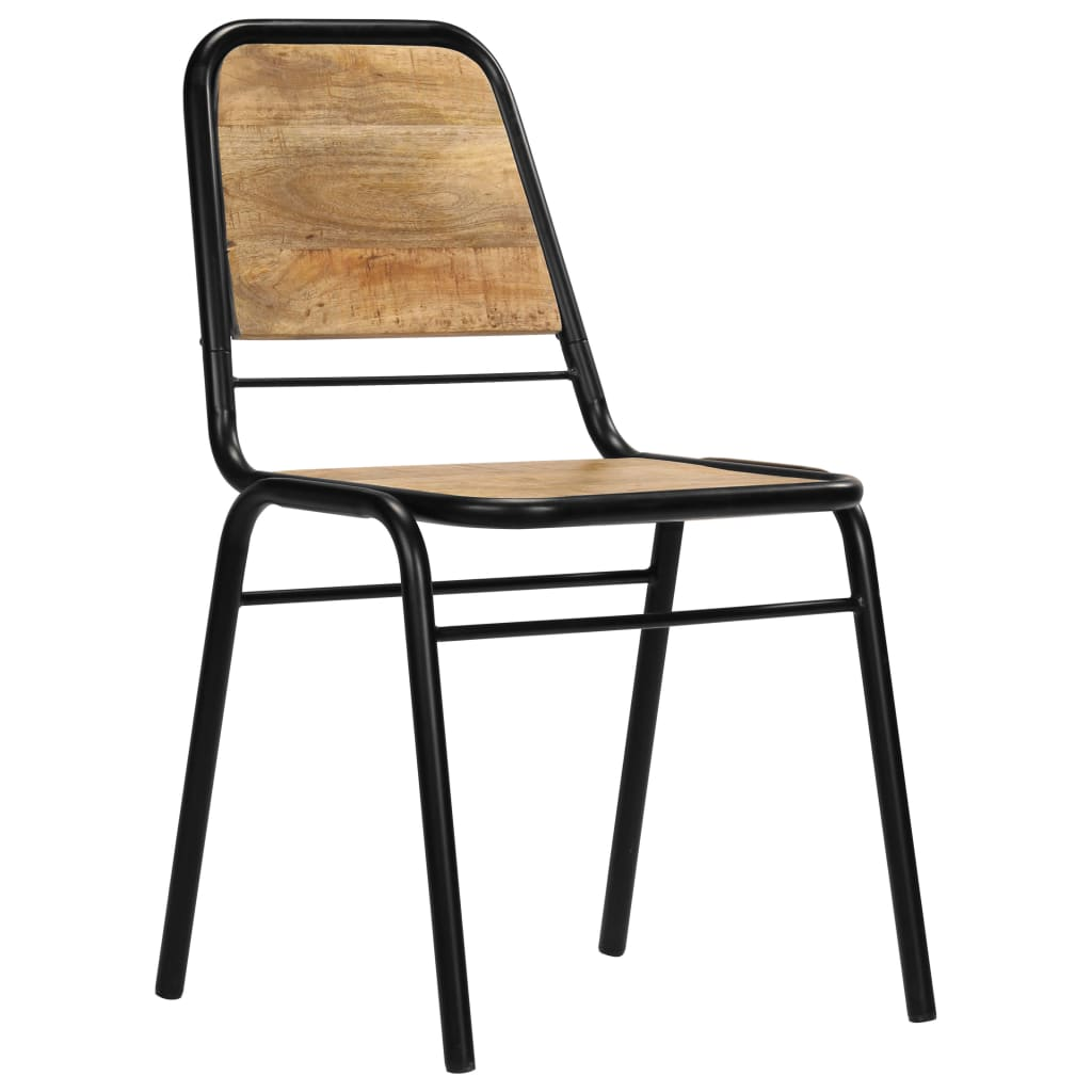 Dining Chairs 2 pcs Solid Mango Wood 3