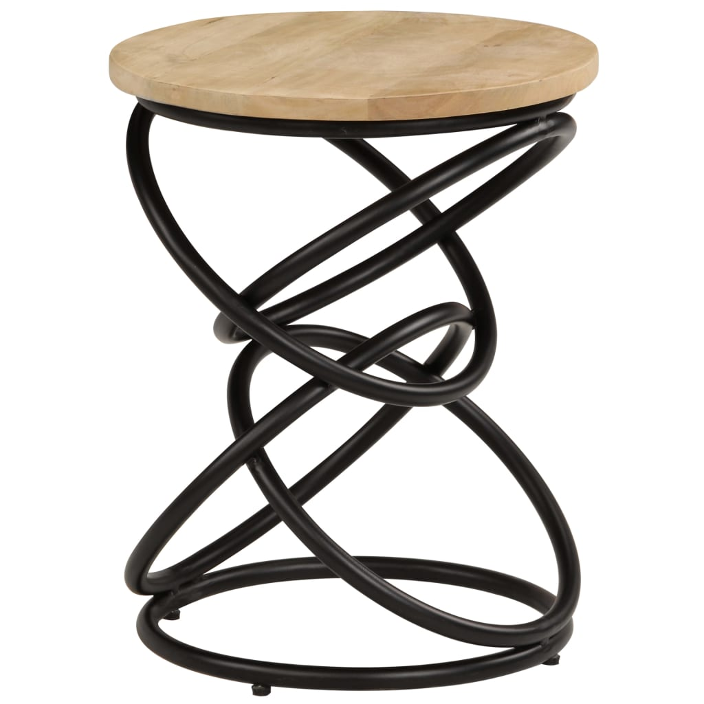 End Table Solid Mango Wood 40×50 cm 11