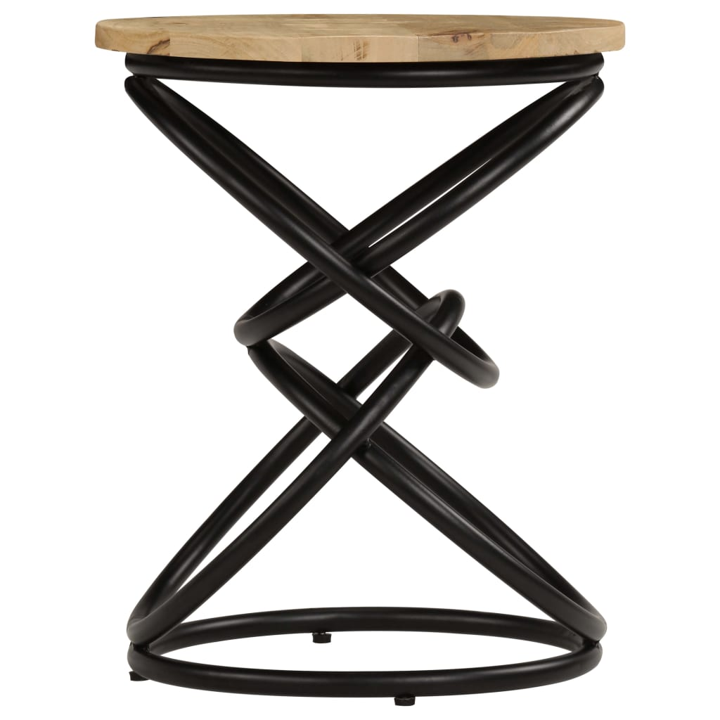 End Table Solid Mango Wood 40×50 cm 4