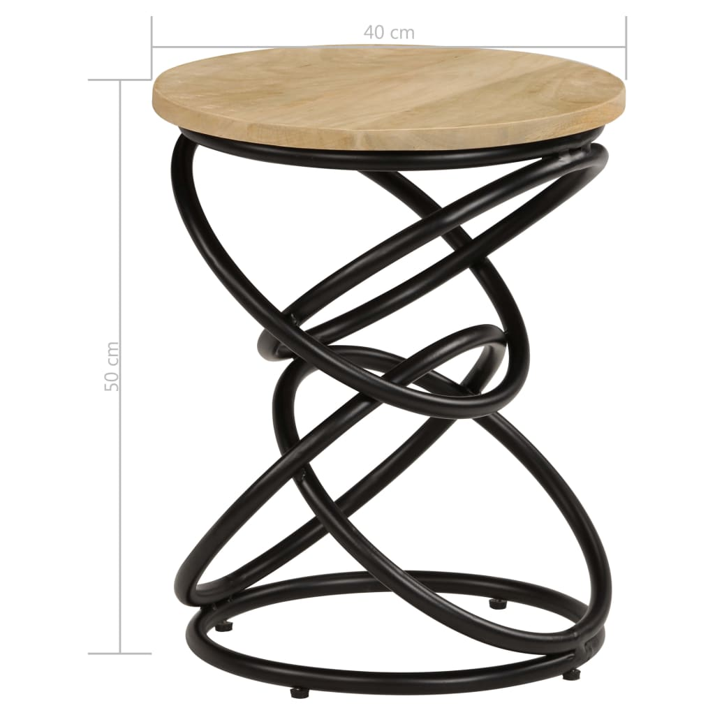 End Table Solid Mango Wood 40×50 cm 8