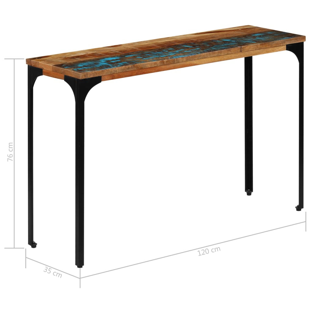 Console Table 120x35x76 cm Solid Reclaimed Wood 9