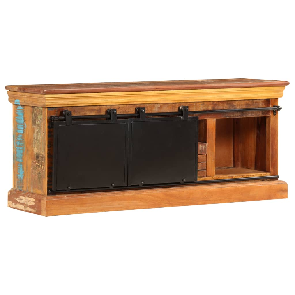TV Cabinet 110x30x45 cm Solid Reclaimed Wood 6