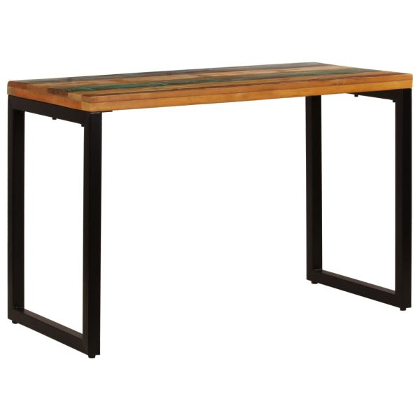 Dining Table 115x55x76 cm Solid Reclaimed Wood and Steel 2