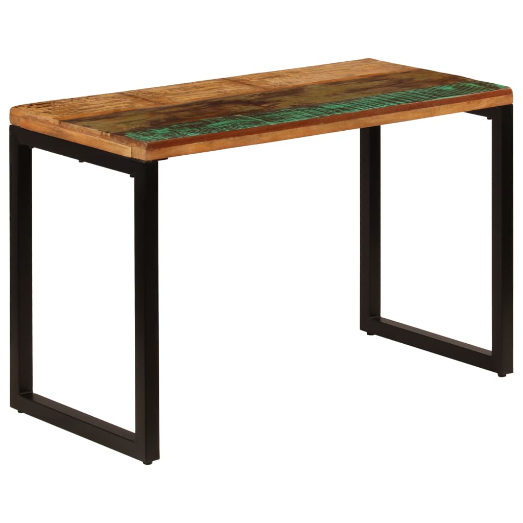 Dining Table 115x55x76 cm Solid Reclaimed Wood and Steel 11