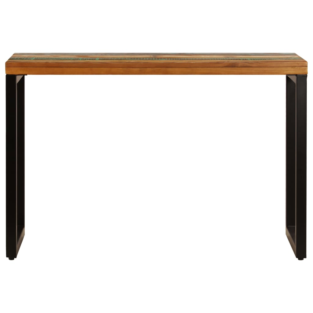 Dining Table 115x55x76 cm Solid Reclaimed Wood and Steel 3