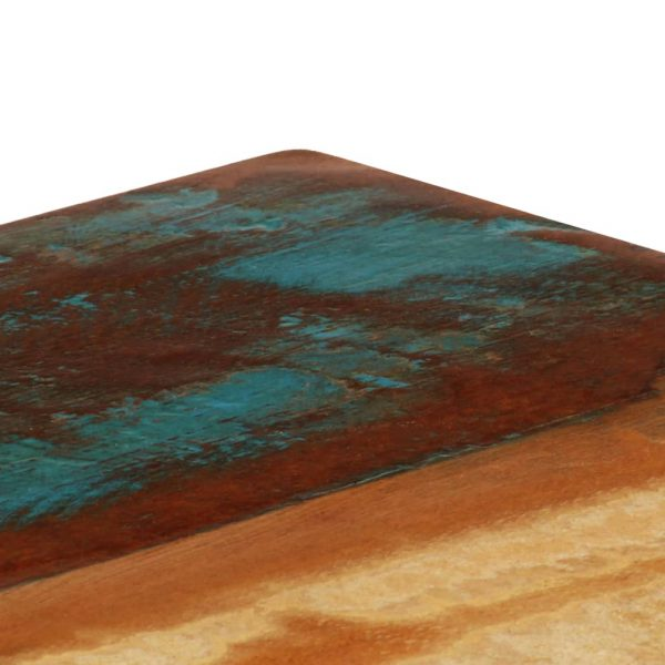 Dining Table 115x55x76 cm Solid Reclaimed Wood and Steel 5