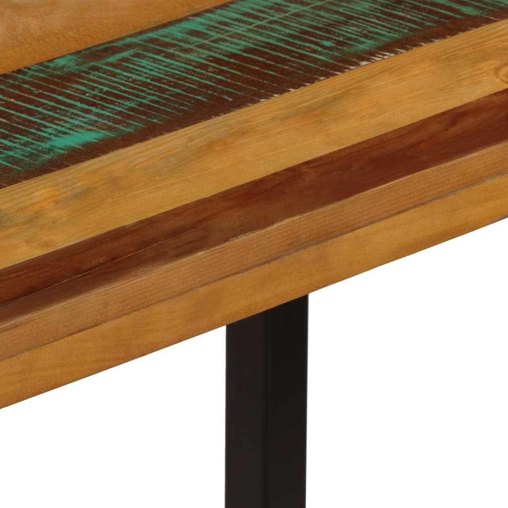 Dining Table 115x55x76 cm Solid Reclaimed Wood and Steel 6